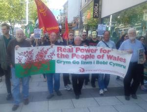 communist party wales banner